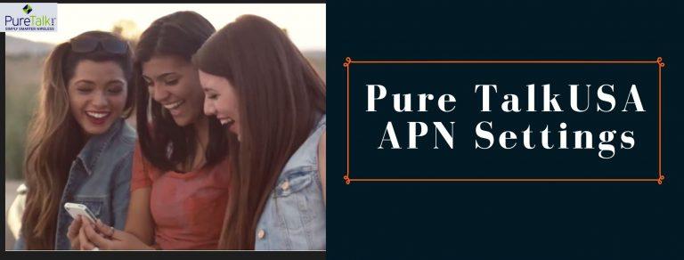 Pure TalkUSA GPRS, Internet and MMS Settings