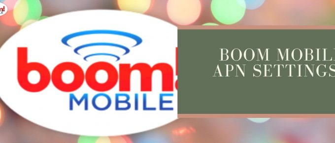 Boom Mobile GPRS, internet and SMS settings