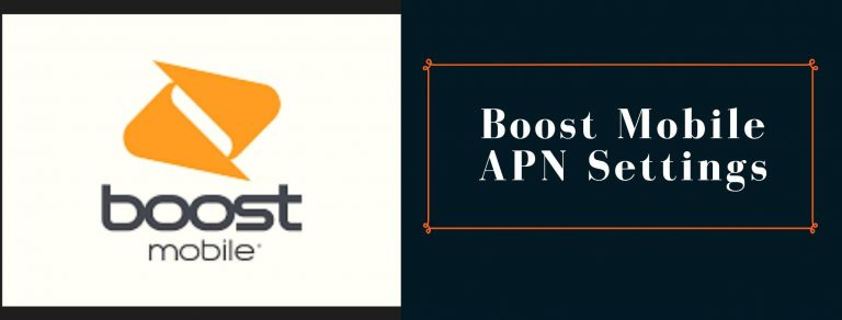 Boost Mobile GPRS, MMS and internet settings