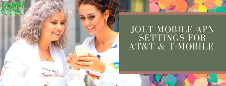 Jolt Mobile GPRS, internet and MMS settings
