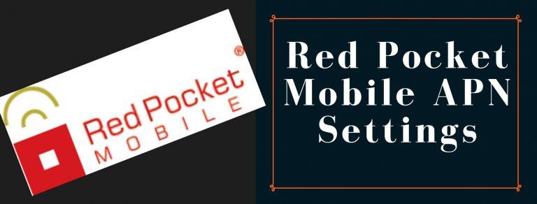 Red Pocket Mobile GPRS, Internet, MMS settings