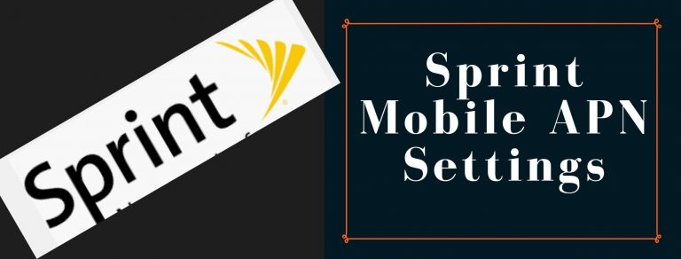 Sprint GPRS, Internet and MMS settings