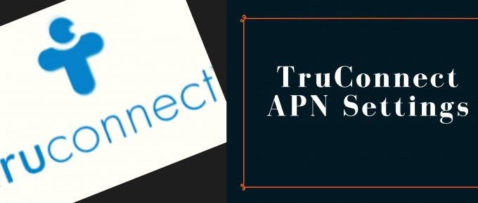 TruConnect GPRS, internet, MMS settings